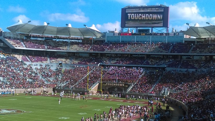 Photo is from the FSU-Delaware State game.