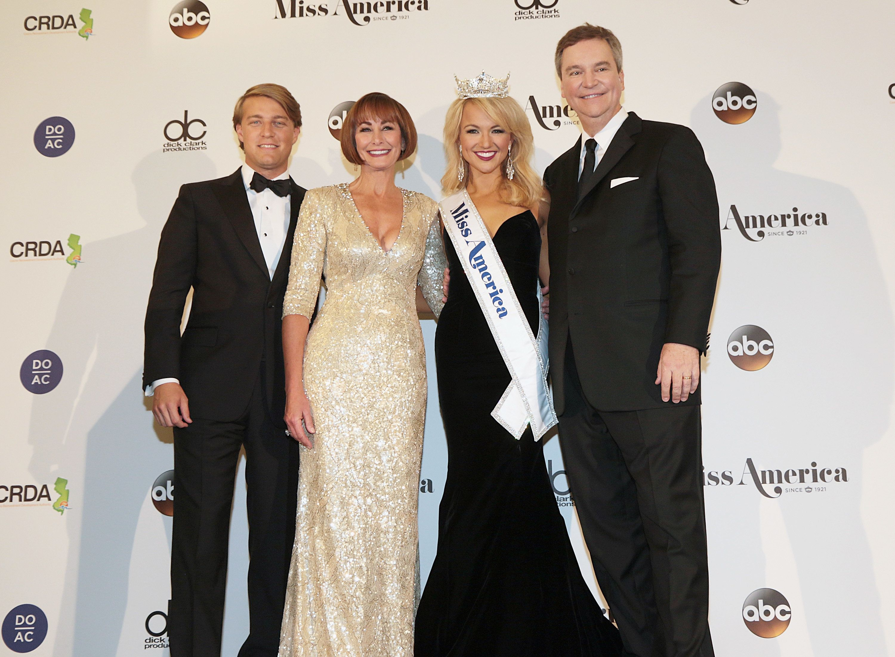Josh Randle, Lynn Weidner, Savvy Shields and Sam Haskell appear during the 2017 Miss America Competition.