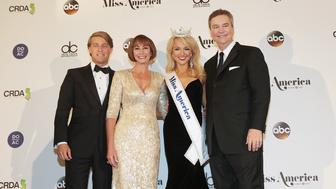 ATLANTIC CITY, NJ - SEPTEMBER 11:  (L-R) Josh Randle, Lynn Weidner, Savvy Shields and Sam Haskell appear during the 2017 Miss America Competition at Boardwalk Hall Arena on September 11, 2016 in Atlantic City, New Jersey.  (Photo by Donald Kravitz/Getty Images for dcp)