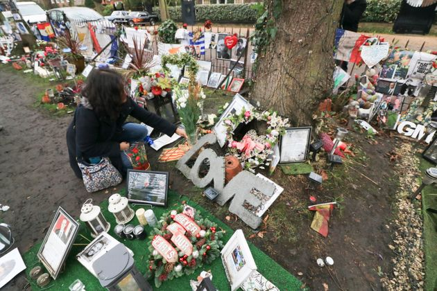Fans have being paying tribute outside the singer's home one year after his