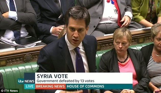 Ed Miliband leads the defeat of Syria vote for military action,