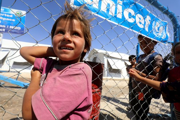 A refugee at a camp in Ain Issa,