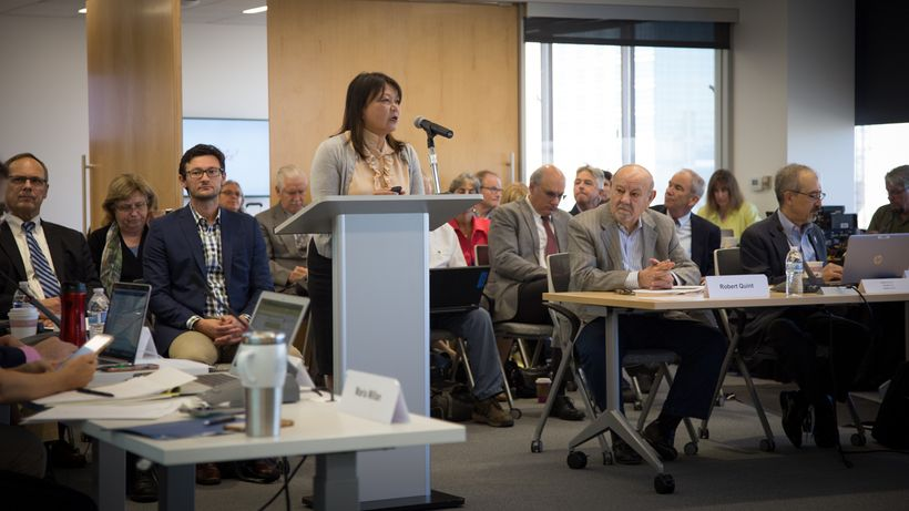 Our new President: Dr. Maria Millan, in the moment she first takes office.