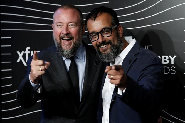Vice co-founders Shane Smith (left) and Suroosh Alvi at the 20th annual Webby Awards in Manhattan,