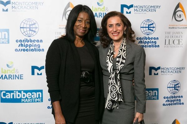 <em>L-R: Dr. Geneive Brown Metzger, ACMF President & Founder, shares a moment with donor, Georgia Nomikos. Photo:Ash Pat