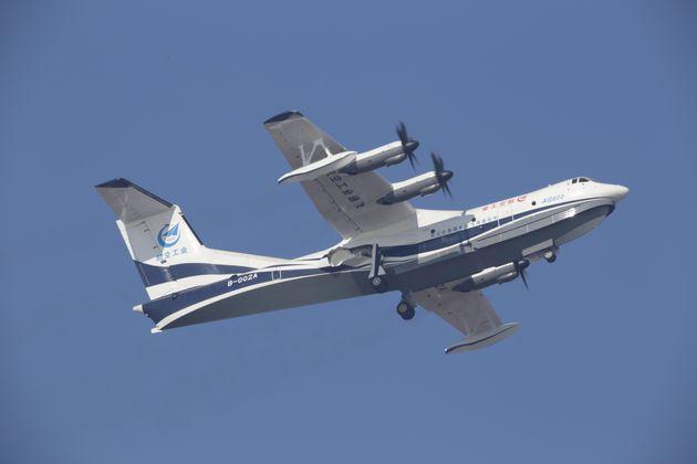 Παρθενική πτήση για το μεγαλύτερο αμφίβιο αεροσκάφος του κόσμου στην