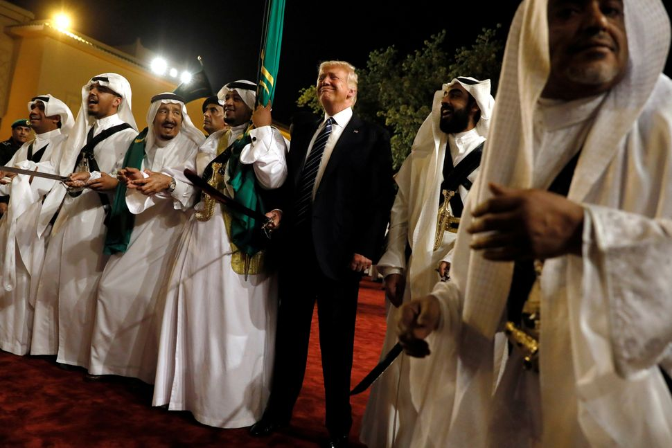 President Donald Trump during his stop in Saudi Arabia in May.
