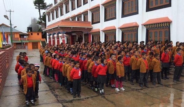 <em>Dr. Kazuko provided iPads and uniforms for the children of Manjushree Orphanage.Image: Manjushree Orphanage.</em>
