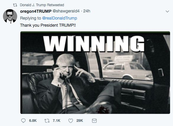 Twitter Reacts After Trump Retweets Photo Of Himself With Bloody CNN