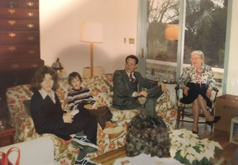 <strong>Me (left) with relatives over the holidays, late 1970s.</strong>