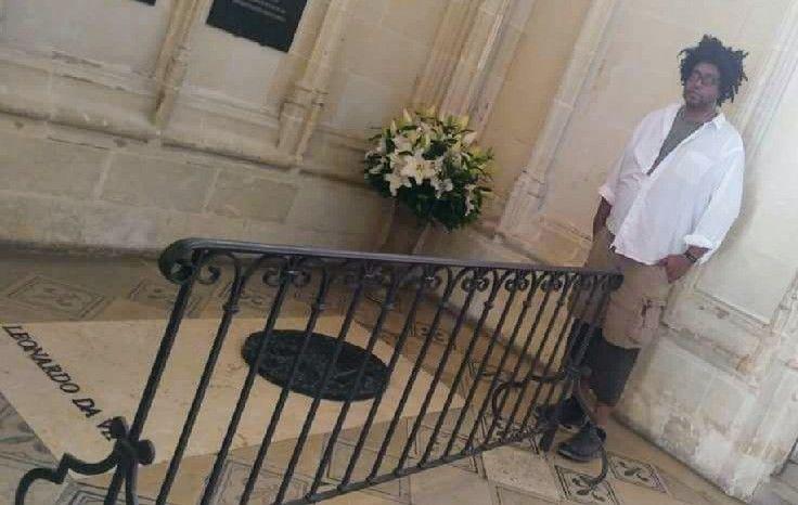 John Sims in France visiting Leonardo da Vinci