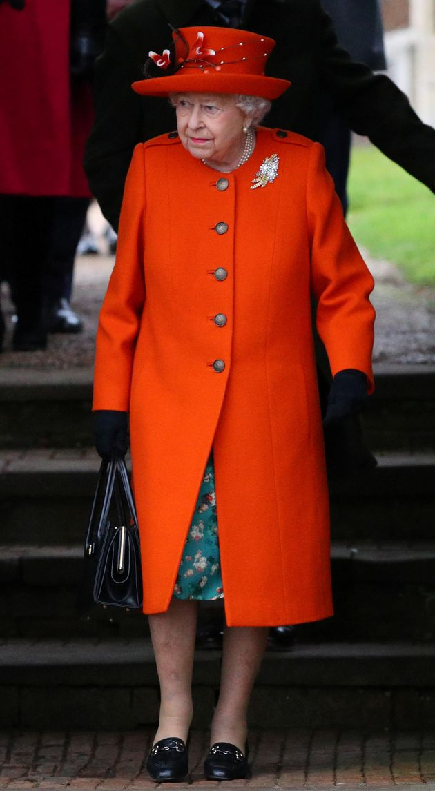 The Queen pictured leaving St Mary Magdalen's
