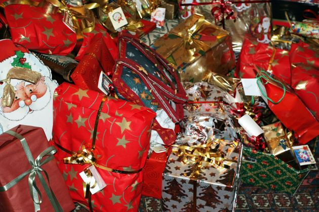 The gifts were taken from the house and the wrapping paper was discarded in the street (file