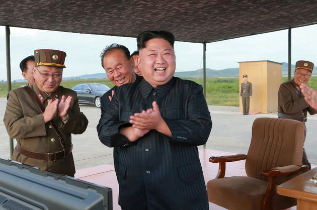 Kim Jong Un in an undated photo released by North Korea's news agency on Sept. 16,