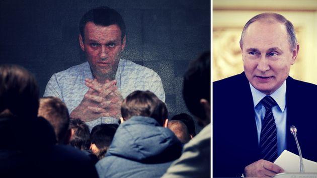 Alexej Nawalny (links) und Russlands Präsident Wladimir