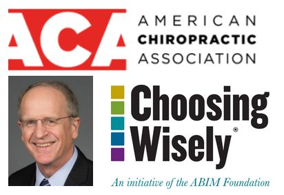 ACA president David Herd, DC and re-branding with Choosing Wisely participation