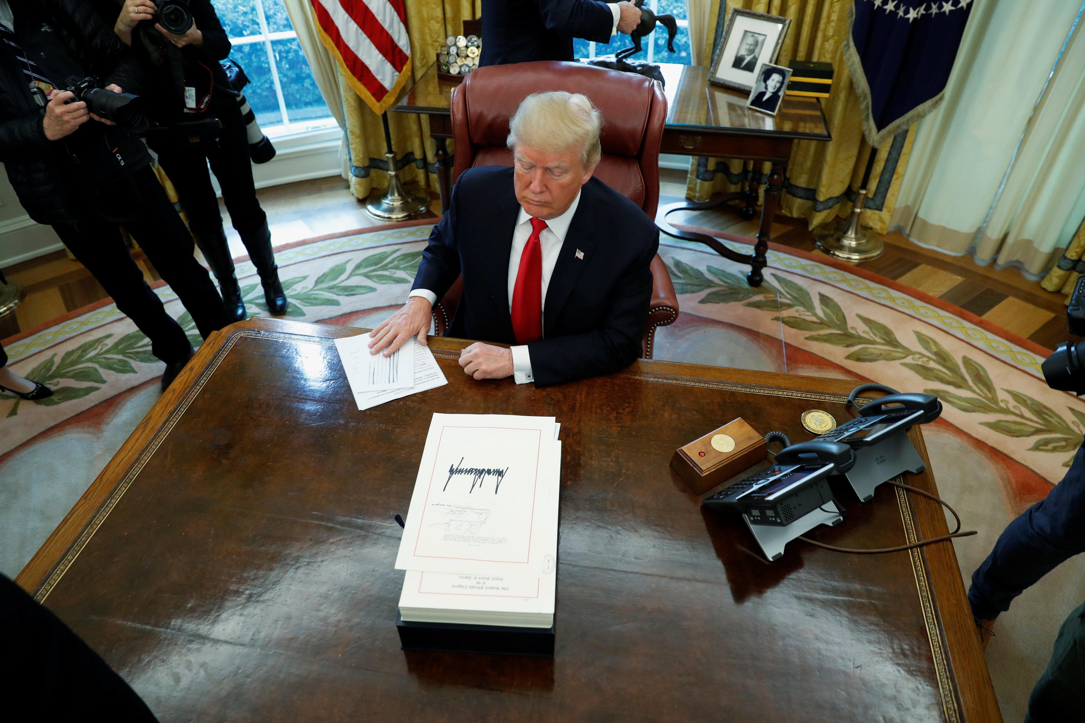 Trump hält sich für den tüchtigsten Präsidenten aller Zeiten – hat er