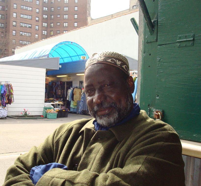 El Hajji Yaya Harouna at the Malcolm Shabazz Harlem Market