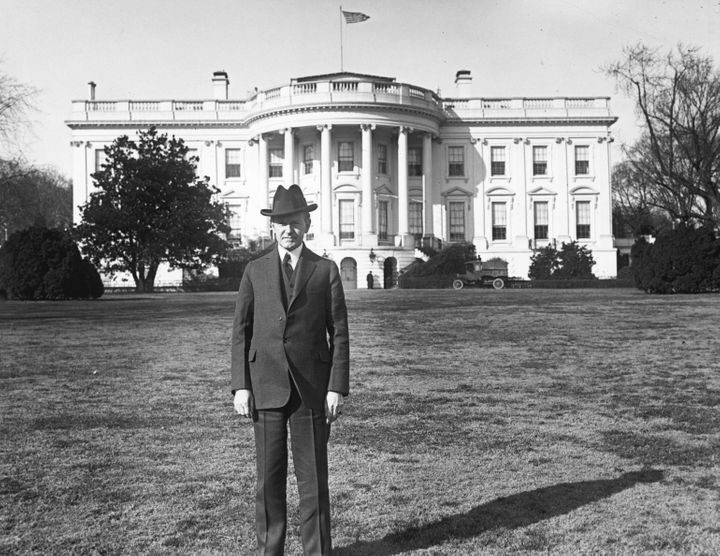 The Jackson Magnolia can be seen in this photo showing then-President Calvin Coolidge.