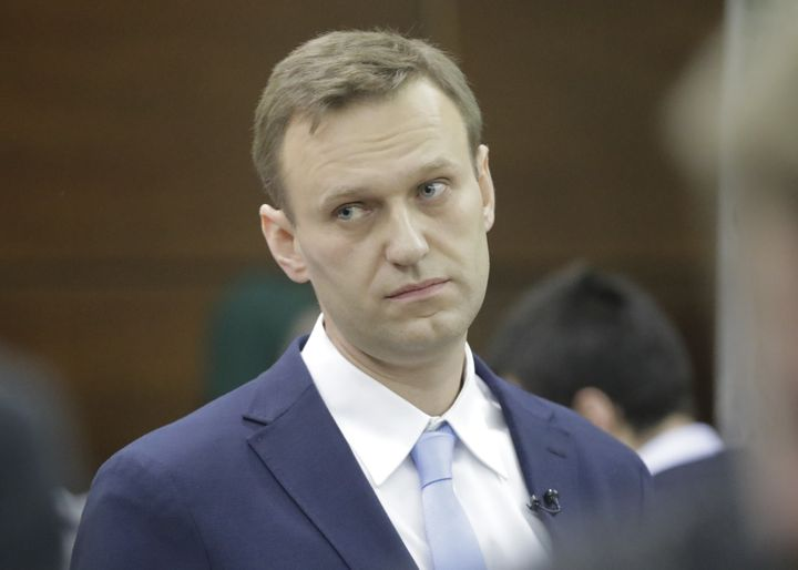 Russian opposition leader Alexei Navalny in Moscow on Dec. 24, 2017.