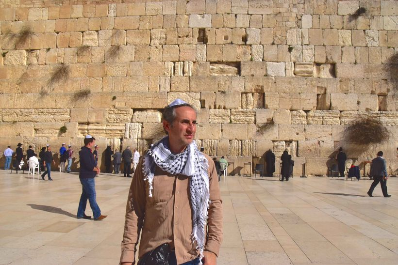 Me at the Western Wall in Jerusalm.