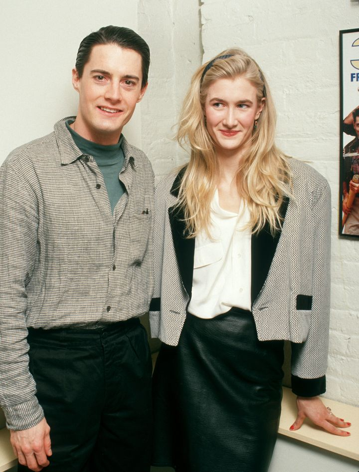 Dern with Kyle MacLachlan in 1988.