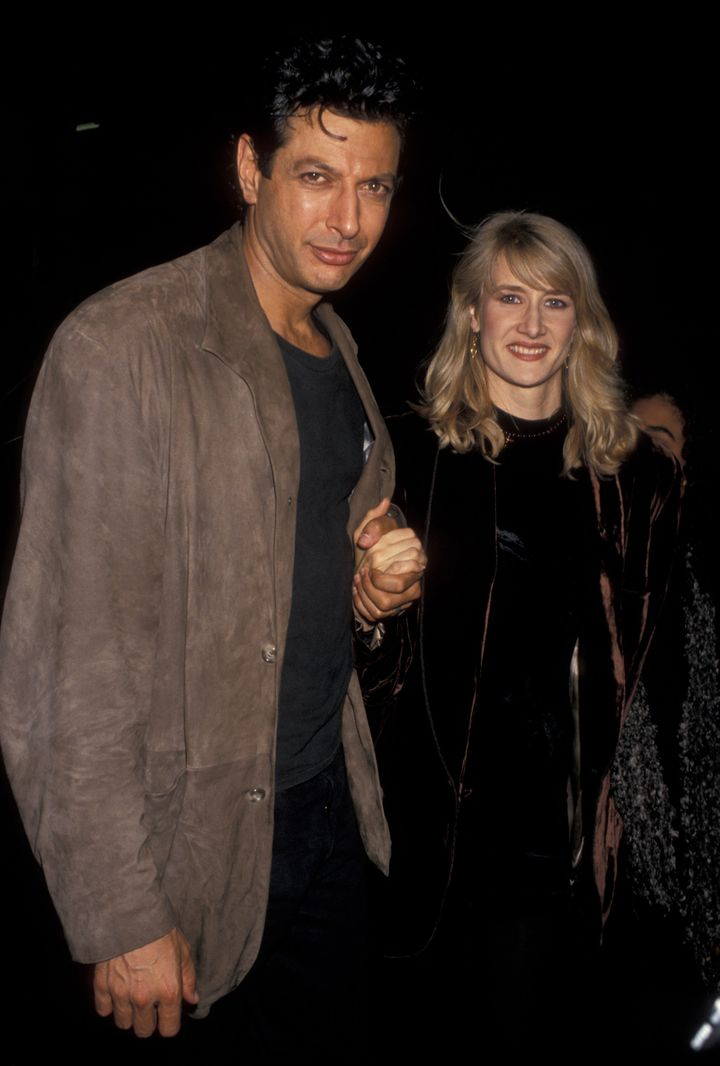 Dern with Jeff Goldblum in 1993.