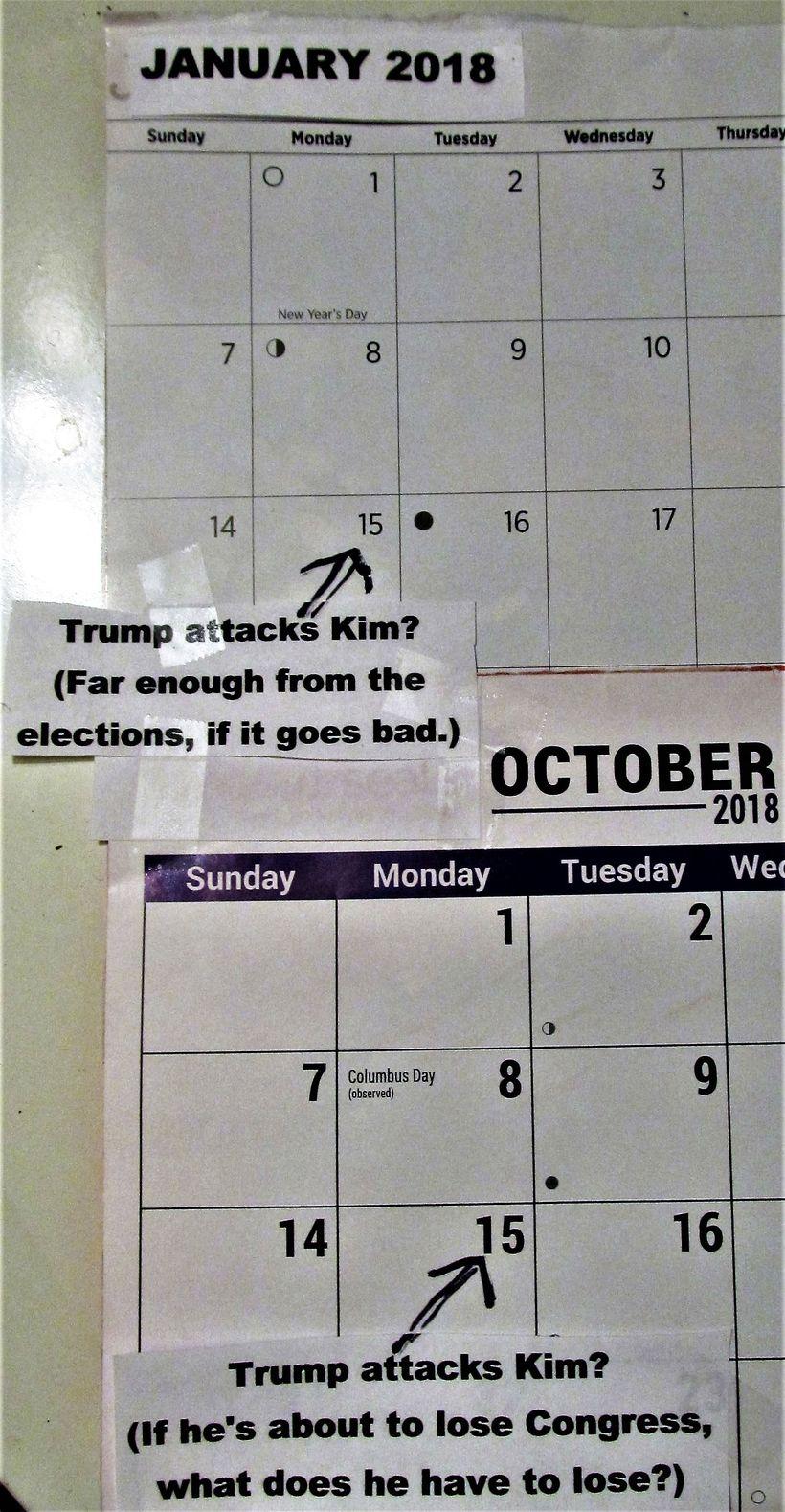 Donald Trump's 2018 calendar?