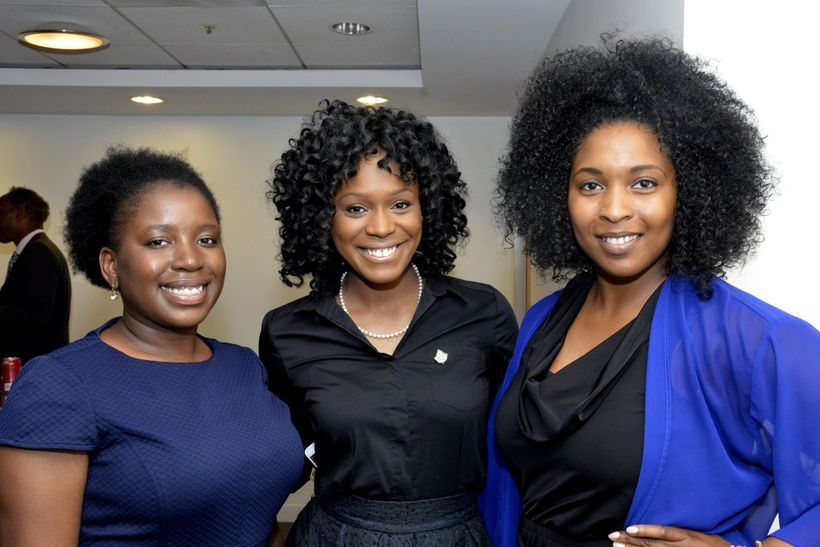 Ciara Brooks (r) for the National Black Public Relations Society's Washington's D.C. chapter Executive Meet and Greet with (l