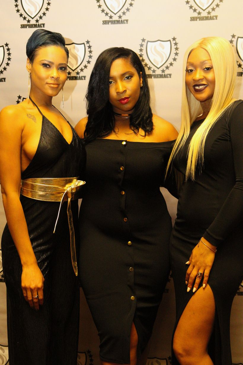 Supremacy Presents Founders: Ciara Brooks with (l) Model LaNea Edwards and (r) Celebrity Hairstylist Lacy Fields