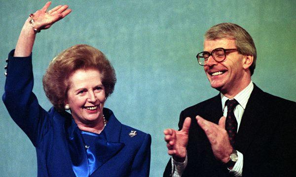 Margaret Thatcher and John Major in