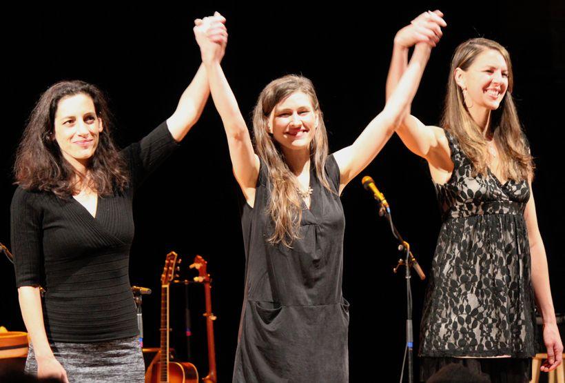 The Wailin' Jennys (from left): Nicky Mehta, Ruth Moody, Heather Masse.