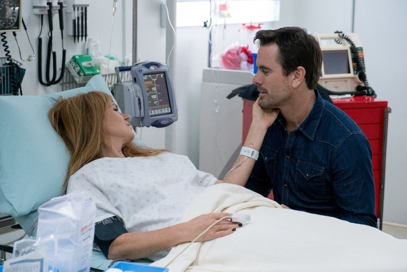 Connie Britton and Charles Esten in Rayna James's farewell to the <em>Nashville</em> skyline.