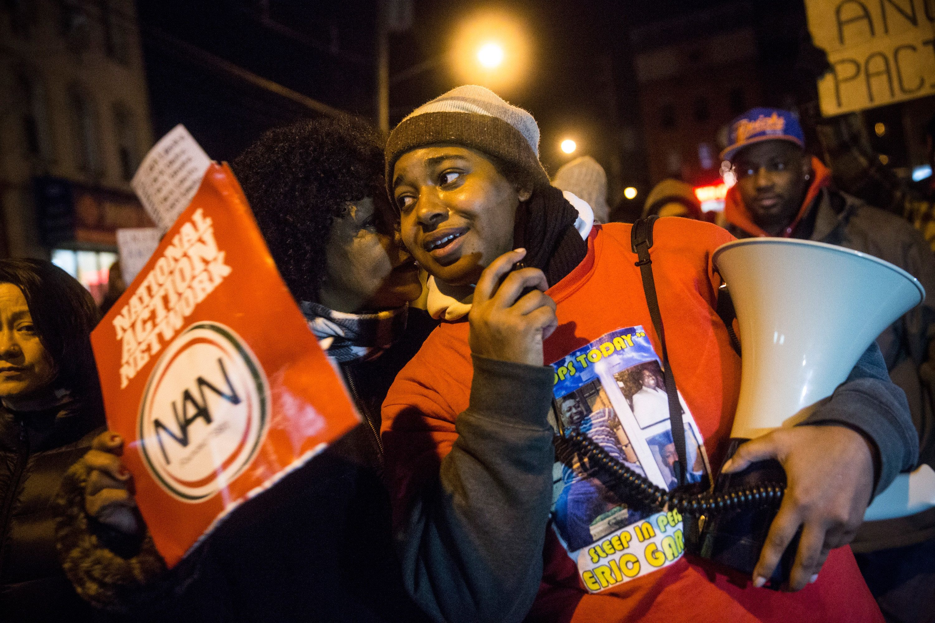 Andrew Burton via Getty Images Erica Garner recently discovered she had heart problems after the birth of her son whom she named after her father