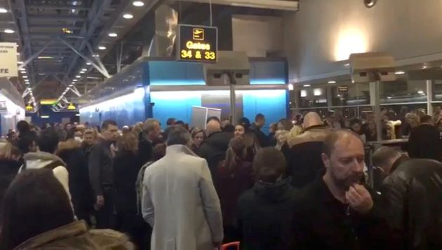 Passengers stranded at Stansted Airport last