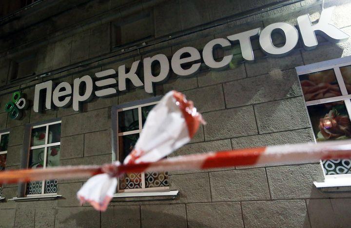 An explosion inside thePerekrestok supermarket in St. Petersburg on Wednesday injured more than a dozen people.
