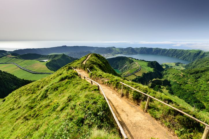All in a day's hike in the Azores.