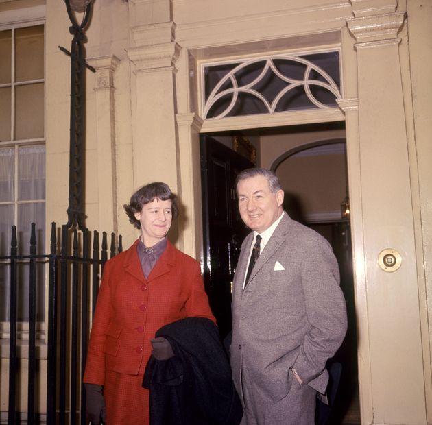 Audrey Callaghan with her husband James Callaghan, then-Chancellor of the