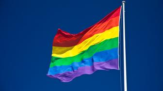 Rainbow / LGBT / Gay Pride Flag, Zurich, Switzerland.