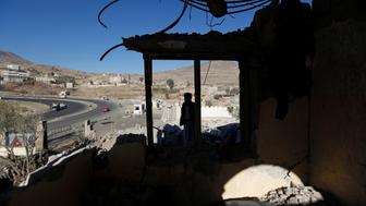 A view of a destroyed house at the site of air strikes in Sanaa, Yemen December 26, 2017. REUTERS/Khaled Abdullah