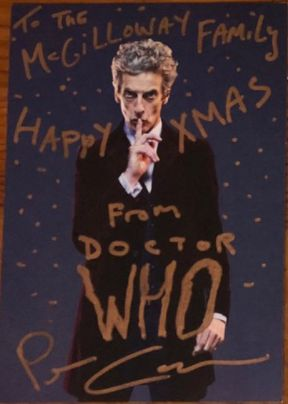 Peter Capaldi Writes Reassuring Letter To 9-Year-Old Who Was Dreading Doctor Who's