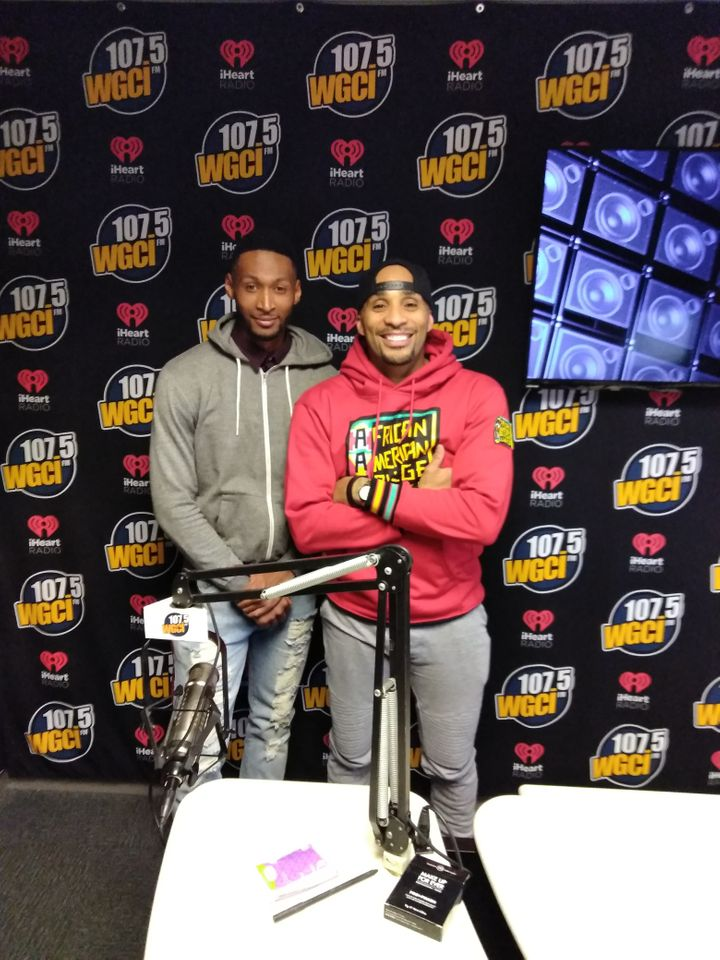 <p>Kevin Williams with client Tone Kapone of iHeart Media</p>