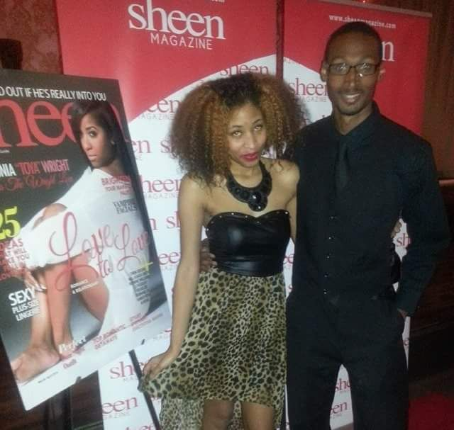 <p>Kevin Williams with Celebrity Blogger Kiwi at Sheen's Magazine Launch event </p>