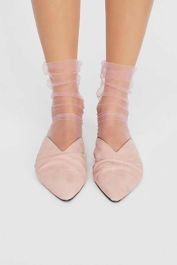 Sheer socks are probably one of the more impractical trends of 2018...but they're too magical and cute not to love. Pair