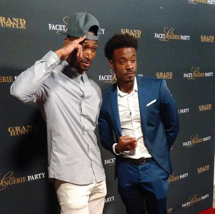 <p>Kevin Williams with client Juhahn Jones at T.I.'s Private BET Weekend Event</p>