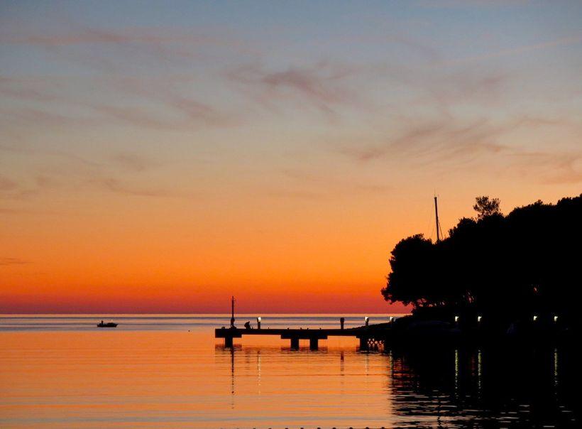Sunset over Čikat Bay on the Croatian isle of Lošinj