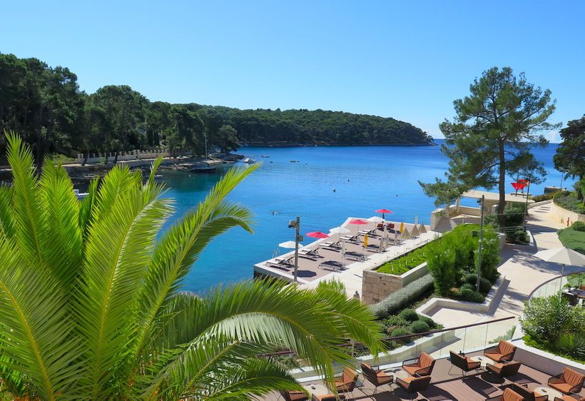 View of Čikat Bay from Alhambra Boutique Hotel (Small Luxury Hotels of the World)