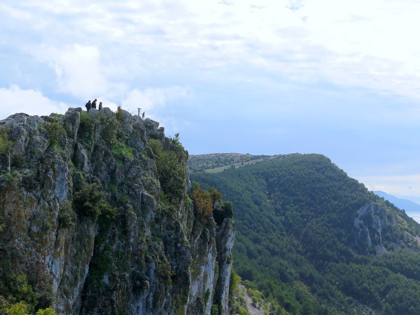 View from the cliffside medieval village of Lubenice, situated more than 1,200 feet above the Adriatic