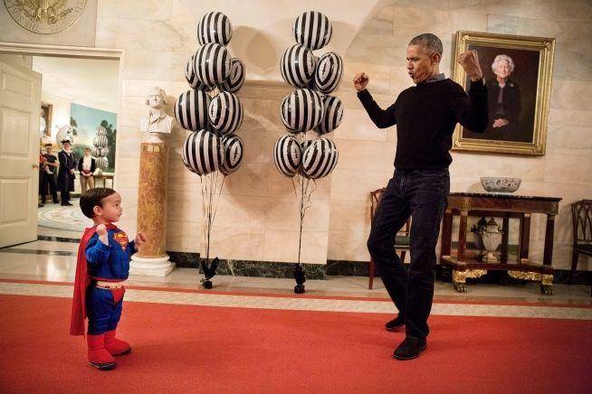 President Barack Obama with Superman Walker Earnest