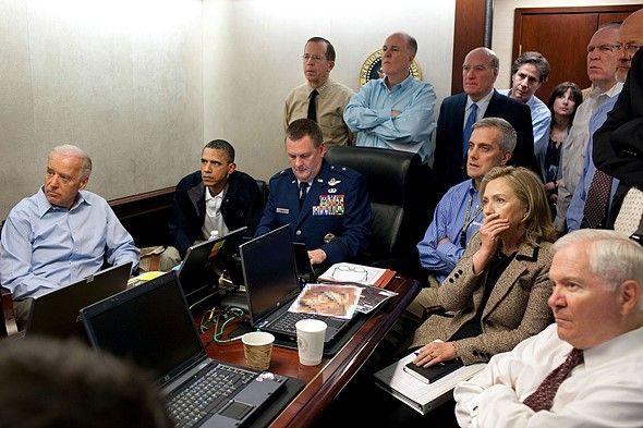 Monitoring the Osama bin Laden raid